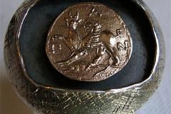Кольцо с копией Пантикапейского статера