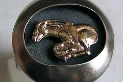 Кольцо Золотой мул